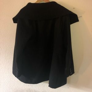 Black PEACOAT with extended collar 3X